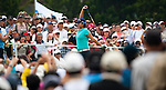 Yani Tseng of Taiwan waves to the crowd on the 1st tee during day one of the Sunrise LPGA Taiwan Championship 2011 at the Sunrise Golf & Country Club on 20 October 2011 in Tao Yuan, Taiwan. Photo by Victor Fraile / The Power of Sport Images