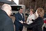 Fiona Hyslop, Cabient Secretary for Culture and External Affairs greets Mr. Khalid Rashid Al-Mansouri KCVO (Embassy of State of Qatar) on his arrival at Edinburgh Castle for a reception and dinner hosted by Alex Salmond First Minister of Scotland..Pic Kenny Smith, Kenny Smith Photography.6 Bluebell Grove, Kelty, Fife, KY4 0GX .Tel 07809 450119,