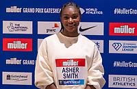22nd May 2021; Hilton Hotel, Gateshead , England; Diamond League Muller Athletics Grand Prix Gateshead press conference; Dina Asher Smith at the press conference