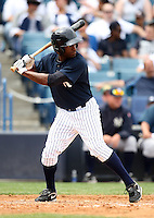 April 3, 2010:  Outfielder Greg Golson of the New York Yankees playing in the annual Futures Game during Spring Training at Legends Field in Tampa, Florida.  Photo By Mike Janes/Four Seam Images