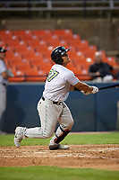Lynchburg Hillcats catcher Li-Jen Chu (27) at bat during the second game of a doubleheader against the Frederick Keys on June 12, 2018 at Nymeo Field at Harry Grove Stadium in Frederick, Maryland.  Frederick defeated Lynchburg 8-1.  (Mike Janes/Four Seam Images)