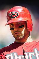 Apr. 27, 2011; Phoenix, AZ, USA; Arizona Diamondbacks third baseman Ryan Roberts against the Philadelphia Phillies at Chase Field. Mandatory Credit: Mark J. Rebilas-