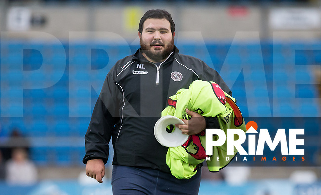 Wycombe kitman Nathan Lugg pre match during the Carabao Cup 2nd round match between Wycombe Wanderers and Forest Green Rovers at Adams Park, High Wycombe, England on 28 August 2018. Photo by Kevin Prescod.