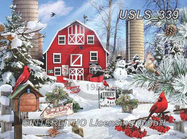 Lori, CHRISTMAS LANDSCAPES, WEIHNACHTEN WINTERLANDSCHAFTEN, NAVIDAD PAISAJES DE INVIERNO, paintings+++++Winter On The Farm_6_72,USLS339,#xl#