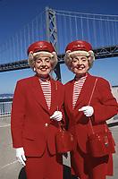 Marian and Vivian Brown, San Francisco Twins in San Francisco,1994 .