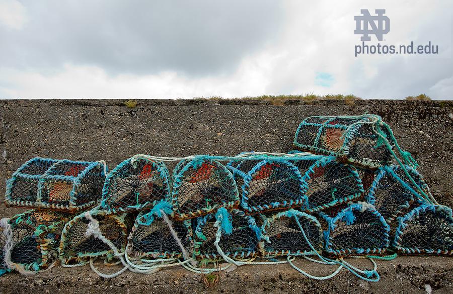 Lobster traps, Cleggan..Photo by Matt Cashore/University of Notre Dame