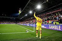 25th September 2021; Brentford Community Stadium, London, England; Premier League Football Brentford versus Liverpool; Trent Alexander-Arnold of Liverpool about to take a corner