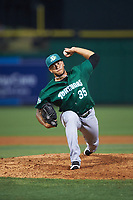 Daytona Tortugas relief pitcher Ismael Guillon (35) during a game against the Clearwater Threshers on April 19, 2016 at Bright House Field in Clearwater, Florida.  Clearwater defeated Daytona 4-1.  (Mike Janes/Four Seam Images)