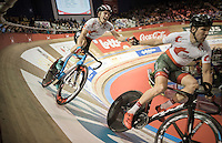 Robbe Ghys (BEL/Lotto-Soudal) slinged into his fastest lap<br /> <br /> 2016 Gent 6<br /> day 4