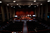 """The United States House Judiciary committee holds as hearing on """"Oversight of the Department of Justice: Political Interference and Threats to Prosecutorial Independence"""" on Capitol Hill in Washington DC on June 24th, 2020.<br /> Credit: Anna Moneymaker / Pool via CNP/AdMedia"""