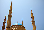 July 2010, LEBANON:  The rooftop of the Mohammad al-Amin Mosque in downtown. Picture by Graham Crouch