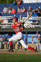 Batavia Muckdogs catcher Blake Anderson (26) at bat during a game against the Mahoning Valley Scrappers on June 23, 2015 at Dwyer Stadium in Batavia, New York.  Mahoning Valley defeated Batavia 11-2.  (Mike Janes/Four Seam Images)