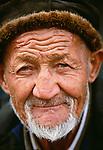 Uighur man, Kashgar, Xinjiang region, China