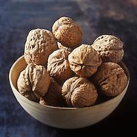 Europe/France/Rhône-Alpes/38/Isère:  AOC Noix de Grenoble - Stylisme : Valérie LHOMME //  France, Isere, AOC Grenoble nuts