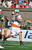 23 August 2008: Los Angeles Riptide Midfielder Jimmy Borell in action against the Denver Outlaws during the Semi-Finals of the Major League Lacrosse Championship Weekend at Harvard Stadium in Boston, MA. The Outlaws edged out the Riptide 13-12, advancing to the upcoming Championship Game.. .Mandatory Photo Credit: Ed Wolfstein Photo
