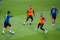 Spain Isco, Sergio Ramos, Jordi Alba and Koke Resurrecion during training session the day before Spain and Argentina match at Wanda Metropolitano in Madrid , Spain. March 26, 2018. (ALTERPHOTOS/Borja B.Hojas) /NortePhoto NORTEPHOTOMEXICO