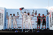 #6 Acura Team Penske Acura DPi, DPi: Juan Pablo Montoya, Dane Cameron, #7 Acura Team Penske Acura DPi, DPi: Helio Castroneves, Ricky Taylor, #31 Whelen Engineering Racing Cadillac DPi, DPi: Pipo Derani, Felipe Nasr, podium