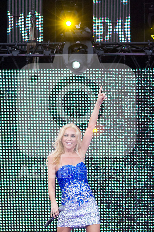 02.06.2012. Marta Sanchez performs during in the ´Cadena 100´ 20 th anniversary Concert at the stadium Vicente Calderon in Madrid. In the image: Marta Sanchez   (Alterphotos/Marta Gonzalez)