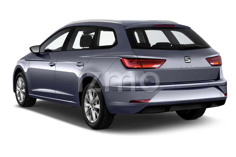 Car pictures of rear three quarter view of a 2018 Seat Leon ST Style 5 Door Wagon angular rear