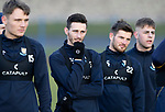 St Johnstone Training….25.01.19          McDiarmid Park<br />Jason Kerr, Scott Tanser and Matty Kennedy listen to Tommy Wright during training this morning<br />Picture by Graeme Hart.<br />Copyright Perthshire Picture Agency<br />Tel: 01738 623350  Mobile: 07990 594431