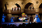 """Cairo, Egypt -- The Sufi Dervish sect puts on a """"whirling dervish"""" dance show every few nights at the Wikala al-Ghouri (the Ghourija). Accompanied by Arabic music and song, the dance is actually a religious observance, commanding total focus and movement to honor and commend devotion to the one true God. © Rick Collier / RickCollier.com"""