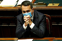 The Minister of Foreign Affairs Luigi Di Maio during the information at the Lower Chamber about the Government crisis..<br /> Rome(Italy), January 18th 2021<br /> Photo Samantha Zucchi/Insidefoto