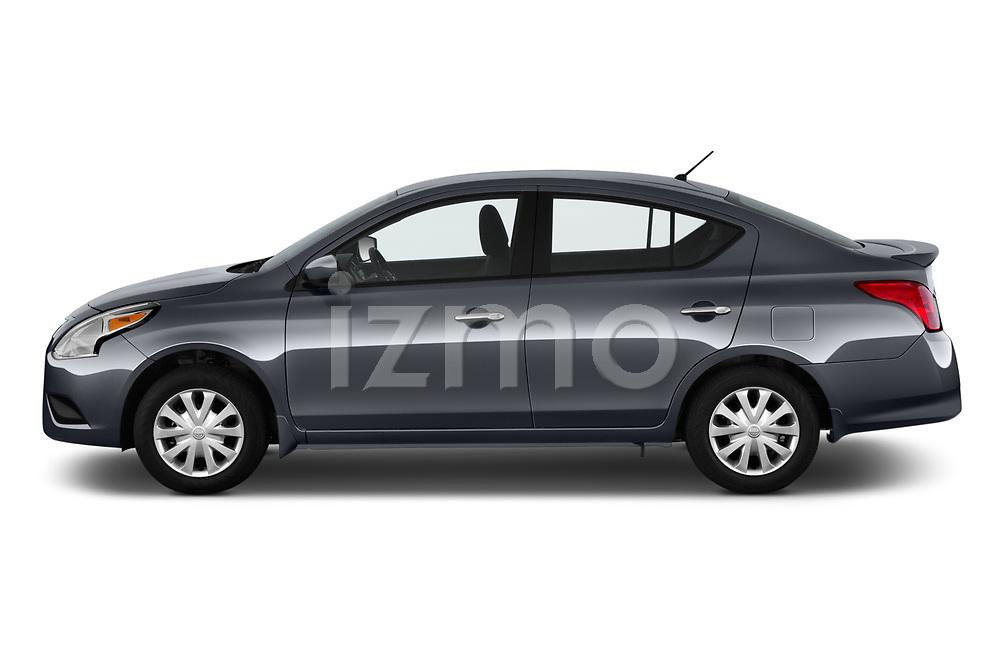 Car Driver side profile view of a 2019 Nissan Versa-Sedan SV 4 Door Sedan Side View