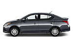 Car Driver side profile view of a 2019 Nissan Versa-Sedan SV 4 Door Sedan Side View