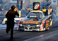 Jul. 19, 2013; Morrison, CO, USA: NHRA funny car driver Tony Pedregon during qualifying for the Mile High Nationals at Bandimere Speedway. Mandatory Credit: Mark J. Rebilas-