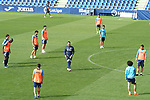 Getafe CF's coach Jose Bordalas with his players during training session. September 23, 2020.(ALTERPHOTOS/Acero)