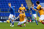 St Johnstone v Motherwell…21.11.20   McDiarmid Park      SPFL<br />David Wotherspoon gets the better of Robbie Crawford<br />Picture by Graeme Hart.<br />Copyright Perthshire Picture Agency<br />Tel: 01738 623350  Mobile: 07990 594431