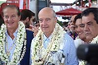 Dominique Perben, Alain JuppÈ & Edouard Fritch -<br /> Deplacement d'Alain JuppÈ a Tahiti dans le cadre de sa campagne pour les primaires aux elections presidentielles.