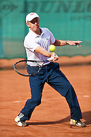 August 24, 2014, Netherlands, Amstelveen, De Kegel, National Veterans Championships, Martin Koek (NED)<br /> Photo: Tennisimages/Henk Koster