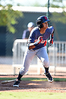 Cleveland Indians infielder Willi Castro (2) during an Instructional League game against the Seattle Mariners on October 1, 2014 at Goodyear Training Complex in Goodyear, Arizona.  (Mike Janes/Four Seam Images)