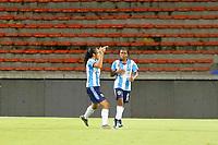 MEDELLÍN- COLOMBIA, 24-08-2021: Independiente Medellín y Real Santander en partido por la fecha 9 como parte de la Liga Femenina BetPlay DIMAYOR 2020 jugado en el estadio Atanasio Girardot de la ciudad de Medellín  / Independiente Medellin and Real Santander in match for the date 9 as part of Women's BetPlay DIMAYOR 2021 League, played at Atanaso Girardot stadium in Medellin city. Photo: VizzorImage / Donaldo Zuluaga/ Contribuidor