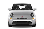 Car photography straight front view of a 2017 Fiat 500e Battery-Electric 5 Door Hatchback Front View