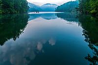 Morning light reflection on Lake Tugalo