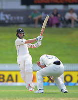 NZ captain Kane Williamson bats during day five of the international cricket 2nd test match between NZ Black Caps and England at Seddon Park in Hamilton, New Zealand on Tuesday, 3 December 2019. Photo: Dave Lintott / lintottphoto.co.nz