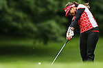 Colombian Mariajo Uribe uses her iron on the fourth fairway during Round 2 of the LPGA Championship at Locust Hill Country Club in Pittsford, NY on June 8, 2013