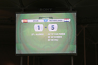 The scoreboard at full time shows the score as Spain 1-5 Netherlands