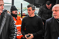 Fleetwood Town's manager Joey Barton arriving for the Sky Bet League 1 match between Doncaster Rovers and Fleetwood Town at the Keepmoat Stadium, Doncaster, England on 6 October 2018. Photo by Stephen Buckley / PRiME Media Images.