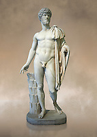 Full length frontal view of Roman staue of Lucius Verus with the idealised body of Diomedes, AD 160-170, inv 6095, Naples National Archaeological Museum