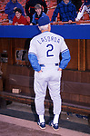 Tommy Lasorda at Dodgers Stadium on May 1, 1990 in Los Angeles, California.