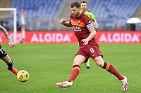Edin Dzeko of AS Roma in action during the Serie A football match between AS Roma and FC Internazionale at Olimpico stadium in Roma (Italy), January 10th, 2021. Photo Andrea Staccioli / Insidefoto