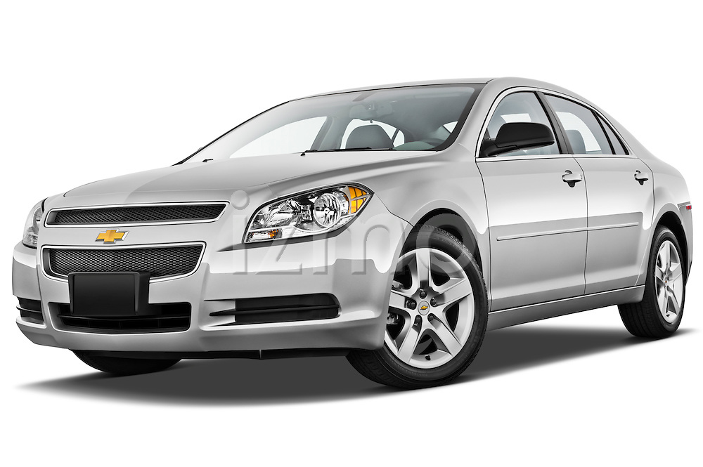 Low aggressive front three quarter view of a 2012 Chevrolet Malibu 1LS .