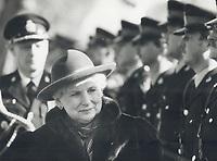 Jeanne Sauve at Toronto City Hall.<br /> <br /> Photo : Boris Spremo - Toronto Star archives - AQP