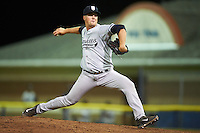 Staten Island Yankees relief pitcher Brian Trieglaff (26) during a game against the Batavia Muckdogs on August 26, 2016 at Dwyer Stadium in Batavia, New York.  Staten Island defeated Batavia 6-2.  (Mike Janes/Four Seam Images)