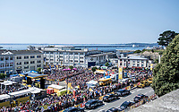 Huge crowds at the race start in Brest. <br /> <br /> Stage 6: Brest > Mûr de Bretagne / Guerlédan (181km)<br /> <br /> 105th Tour de France 2018<br /> ©kramon