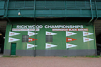 Rickwood Champions display at Rickwood Field, the oldest surviving professional baseball park in the United States, first opening on August 18, 1910, as home for the Birmingham Barons.  Image taken on April 16, 2013 in Birmingham, Alabama.  (Mike Janes/Four Seam Images)