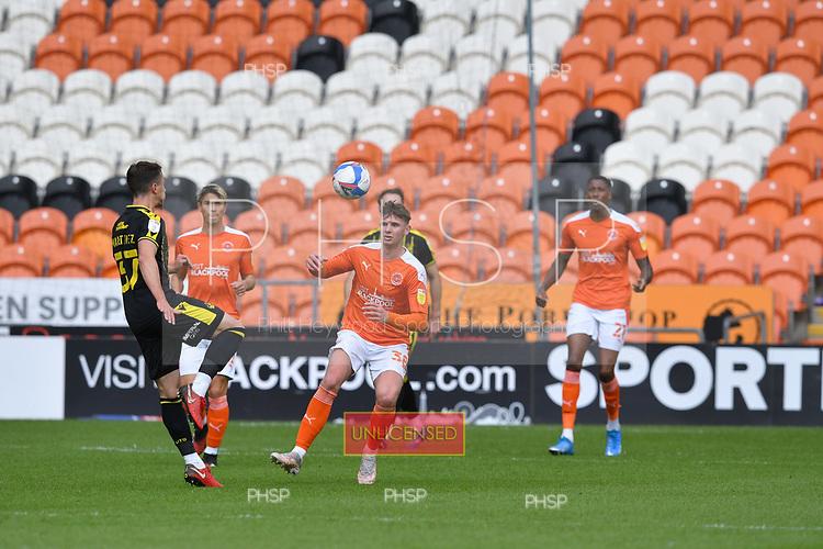 09/05/2021 Sky Bet League 1 Blackpool v Bristol Rovers  <br /> <br /> Brad Holmes duels with Pablo Martinez